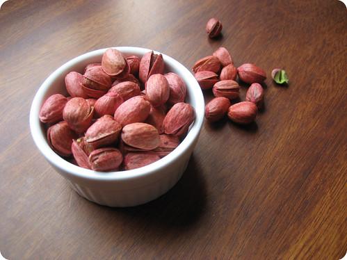 Foto de los pistachos rojos
