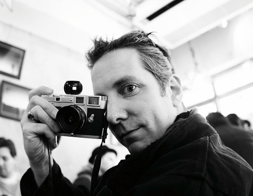 Jim and his Leica III by Joi.