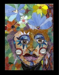 Thinkin' Spring (Carol Shelkin, Artist) Tags: flowers portrait woman color art philadelphia glass face digital portraits mirror spring artist mosaic sony fineart  mosaics stained tiles marble 60 5x7 millefiori vit commissions artistmama wwwcarolshelkinmosaicscom carolshelkin wwwcarolshelkinmosaiccom carolsoritzshelkin carolshelkinmosaics