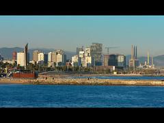 Barcelona's 'new look' (MarcelGermain) Tags: barcelona city blue sea beach water skyline architecture buildings geotagged mar construction mediterranean cityscape forum catalonia hotels newlook breakwater marcelgermain twtmesh010818