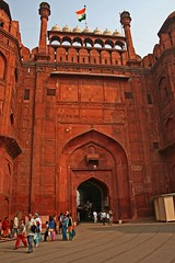 Lahore gate into Red Fort (jonclark2000) Tags: india delhi newdelhi redfort lahoregate
