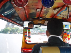 From the back of a tuk tuk