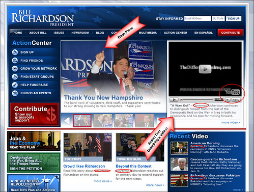 Bill Richardson for President home page
