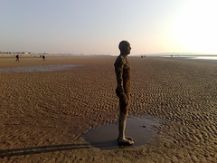 Another Place....Liverpool. (Grateful Ghoul) Tags: art liverpool installation gormley antonygormley anotherplace crosbybeach gormleystatues