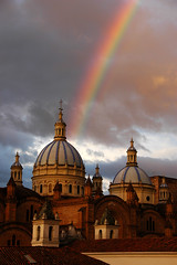 Cuenca, Ecuador, 2007 (marc_guitard) Tags: church weather ecuador rainbow cathedral spires cuenca conception immaculate photoguideecuador