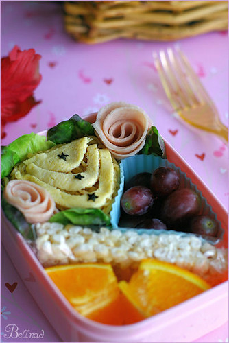 Bento with fried noodle