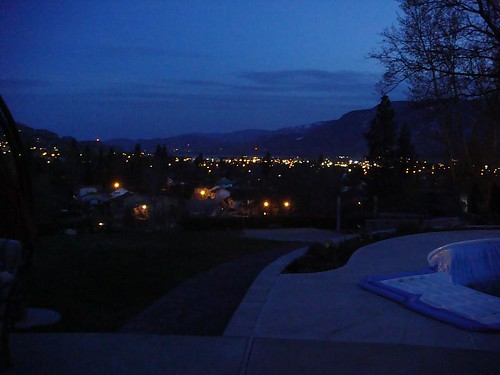 Looking down the valley at night