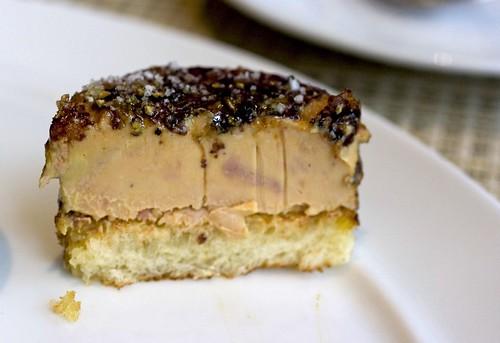 Foie gras brulee innards