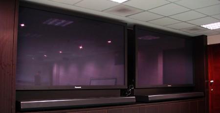 Twin plasma displays