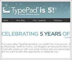 Typepad turns 5 and that makes us happy at the Quicken Loans blog