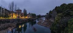 Bolarque. (Amparo Hervella) Tags: embalsedebolarque guadalajara españa spain agua nube paisaje reflejo nocturna noche río largaexposición d7000 nikon nikond7000 comunidadespañola panorámica
