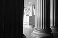 (*Qatar) Tags: bw washingtondc blackwhite lincolnmemorial