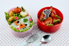 Bento 05/19/09 Little Red Riding Hood ( sheree) Tags: lunch wolf littleredridinghood bento lunchbox foodart obento decole facefood charaben kyaraben otogicco characterbento
