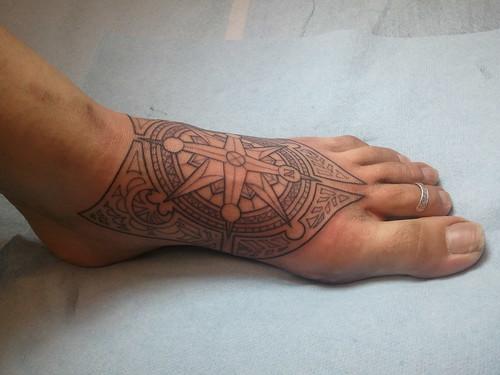 Art Nouveau Style Tattoos Art Nouveau Styled Compass