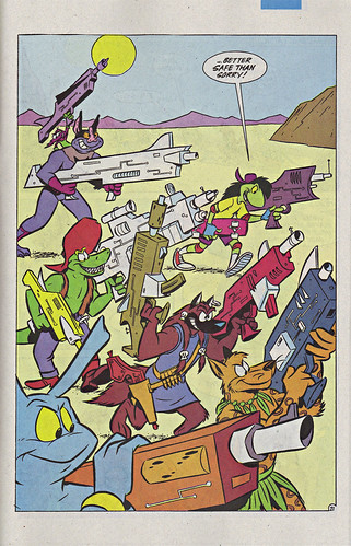Mighty Mutanimals #4, pg.21 .. art by Mike Kazaleh  (( 1992 ))