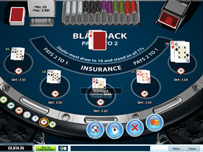 Blackjack Surrender 5 Hand Win