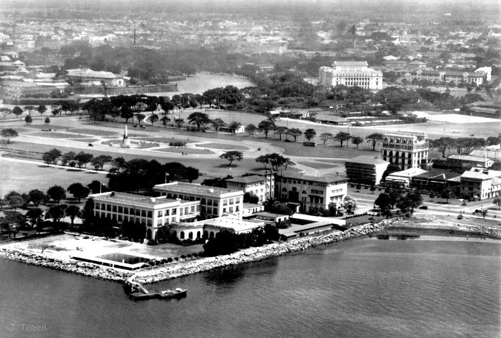 Army and Navy Club, Rizal Monument, Luneta Park, Luneta Hotel, Intramuros, Legislative Building, Manila, Philippines, 1931