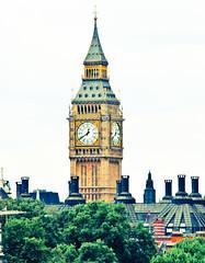 Big Ben from Trafalgar Square - London England (mbell1975) Tags: from uk houses england london tower clock westminster square big ben britain trafalgar parliament gb 5photosaday worldtrekker