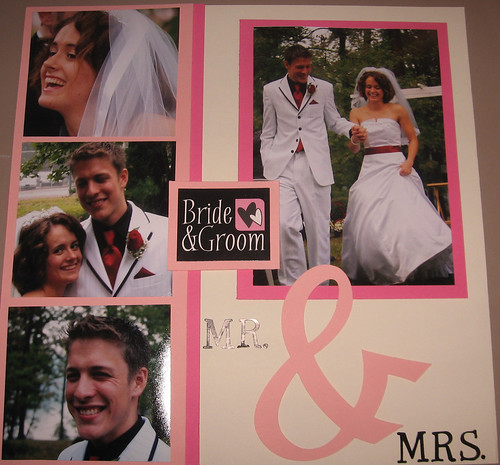oriona's wedding scrapbook-bride and groom