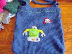 Robot Sweater Tote