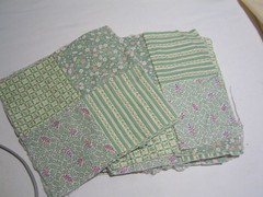 Found fabric quilt blocks