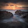 "A Philosophical Snapper (jasontheaker) Tags: ocean sunset sea sun beach clouds rocks cornwall atlantic treyarnon contantine landscapephotography 11000views ""jasontheaker"" cf2007nov"