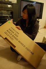 guitarist unboxing the guitar (joseph lo) Tags: canada rock band first xbox 360 rockband harmonix