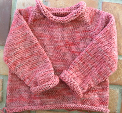 Abbie's Birthday Sweater - finished