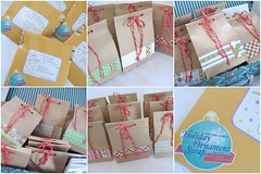 -2007 Holiday Ornament Swap - SENT (Warm 'n Fuzzy) Tags: christmas mail craft ornament swap sent 2007 snailmail paperbags holidayornamentswap