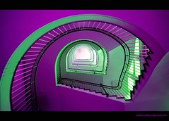 purple and green (sediama (break)) Tags: green stairs germany purple hannover treppe staircase round staircases treppen treppenhaus fineartphotos aplusphoto sediama excellentphotographerawards colourartaward bysediamaallrightsreserved