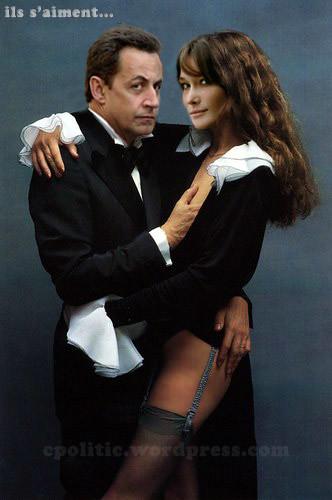 Nicolas Sarkozy with Carla Bruni
