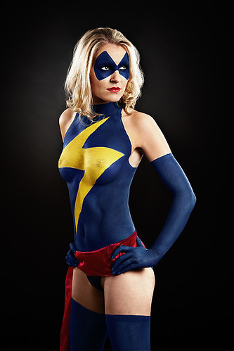 Girl Body Paint Design With The Marvel Comic Character Art Pictures Gallery