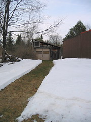 Cleared path to garage