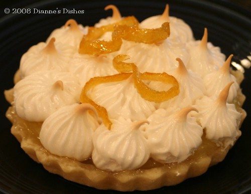 Daring Bakers Challenge January 2008: Lemon Meringue Pie: Lemon Meringue Tart with Candied Lemon Peel