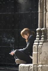 Smoking Alone...