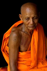 old monk (maiks72) Tags: old people man face asian thailand bangkok buddhist monk oldman elderly thai elder wise portaits grayhair whitehair seniorcitizen