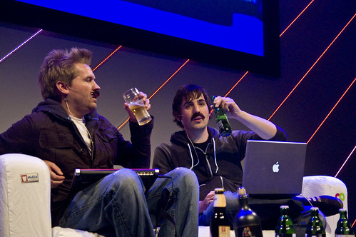 Diggnation with Fake mustaches live at The Next Web 2008