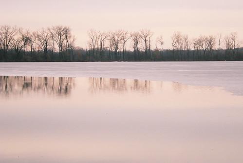 Ice Breaking Up on Lake Wingra