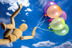 """Carried away on your birthday! (ANVRecife) Tags: birthday macro balloons toy toys colorful woody bling monday vallejos """"birthday bling"""" conceptphotos macromondays"""