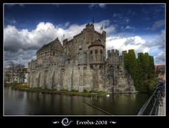 Gravensteen, Gent, Belgium (Erroba) Tags: sky castle water clouds photoshop canon reflections belgium sigma medieval tips 1020mm polarizer erlend ghent gent hdr gravensteen themoulinrouge blueribbonwinner 3xp photomatix supershot 400d theunforgettablepictures theperfectphotographer erroba robaye erlendrobaye