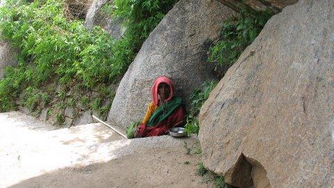 mendicant at temple