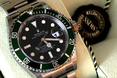 Rolex Submariner 16610 LV (Toni_V) Tags: longexposure green dof watch timepiece wristwatch rolex submariner d300 16610 capturenx toniv toniv 16610lv
