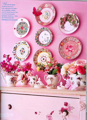 fabric plates in Liberty of London prints