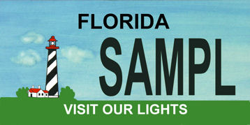 New Florida Lighthouse license plate