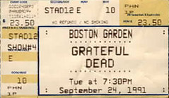 Grateful Dead - Boston Garden ticket: 9/24/91