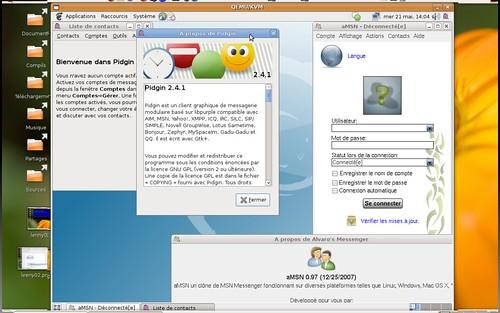AMsn et Pidgin sous Debian Lenny