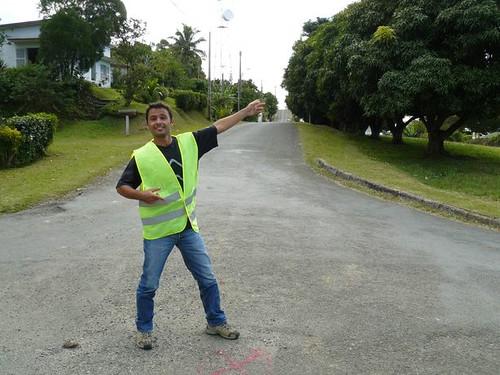 Duathlon de Poindimie 2008 #1 : sylvain au boulot