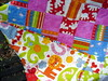 bright patchwork quilt front and back