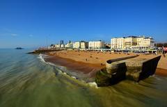 Brighton Seafront (markjlawson) Tags: brighton seafront coast nikon sea beach pier view groyne