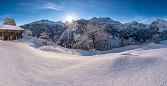 Winter Wonderland (PhiiiiiiiL) Tags: glarussüd glarus schweiz ch braunwald nussbüel panorama switzerland first light tamron 1530mm snow schnee mountain mountains alps swissalps nikon d810 linthal